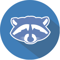 Raccoon Catching Vaughan logo