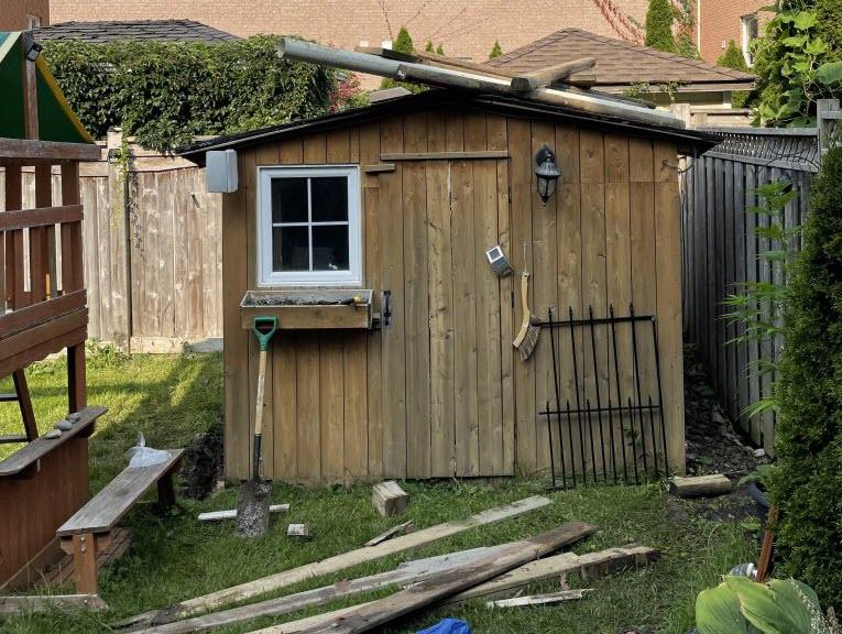 Backhouse in yard - SWAT Wildlife